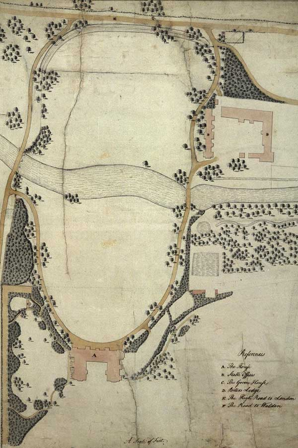 Capability Brown's 1762 design for the landscape at Audley End