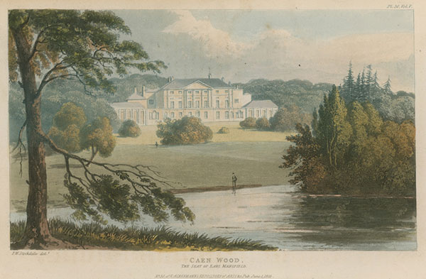 Repton produced a design for Kenwood, north London, in the 1790s. This engraving shows the landscape in 1825.