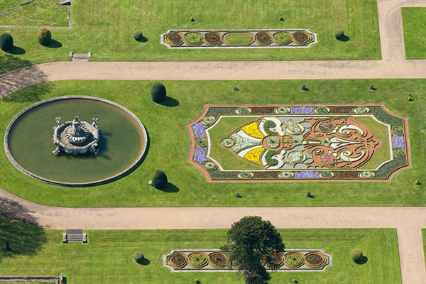 Witley Court East Parterre from the air