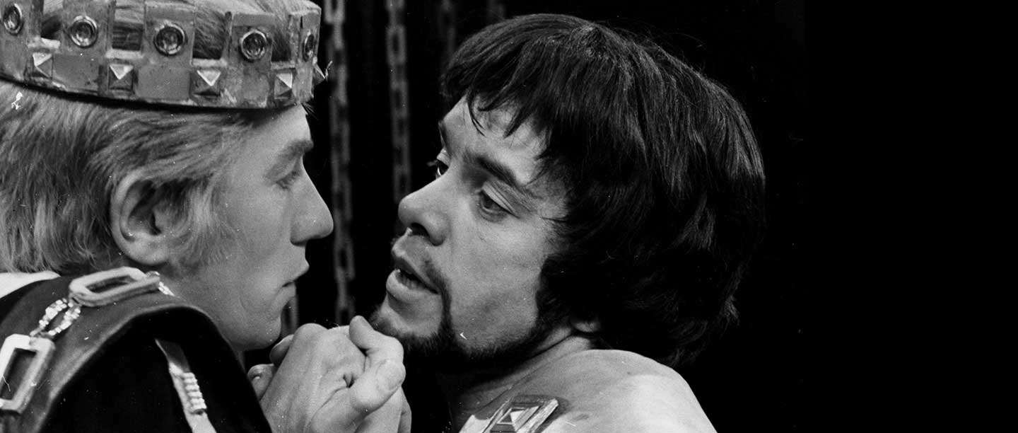 Ian McKellen and James Laurenson perform a scene between Edward II and Piers Gaveston