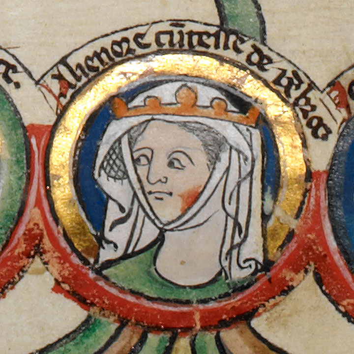 Eleanor de Montfort, depicted in a 13th-century genealogy of the Kings of England