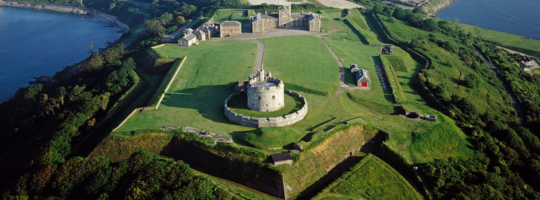Aerial view of Pendennis Castle