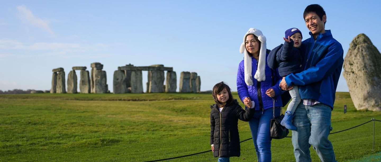 A family visiting Stonehenge