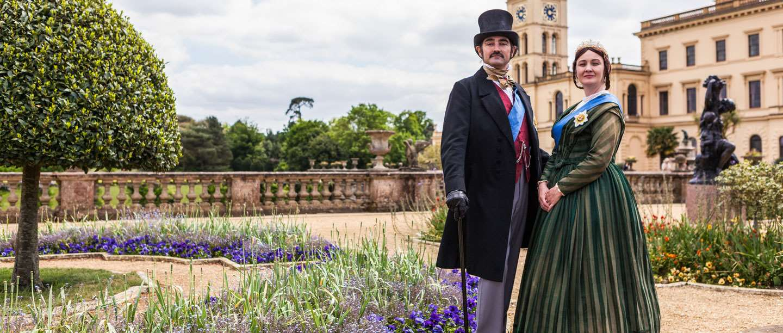 Image: Reenactors dressed as Queen Victoria and Prince Albert