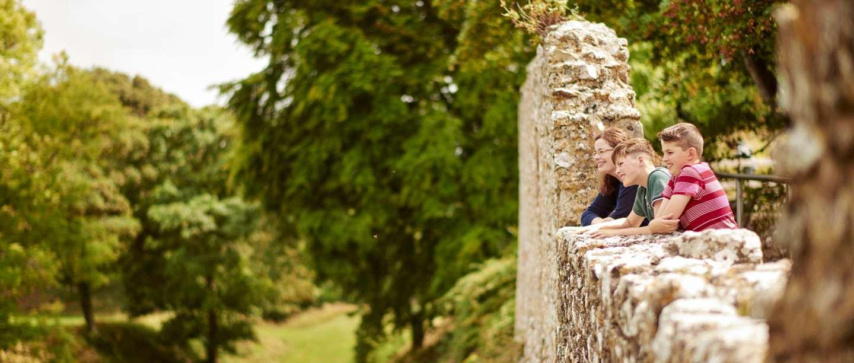 Image: Members at Carisbrooke Castle